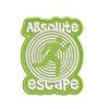 escape, menekülés, exit, kijárat, felvasalható hímzett folt, felvarró, patch, foltshop