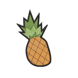 ananász, pineapple, felvasalható hímzett folt, felvarró, patch, foltshop