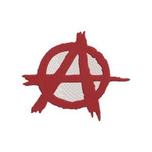 anarchy, anarchia hímzett felvasalható felvarró patch folt hímzés foltshop