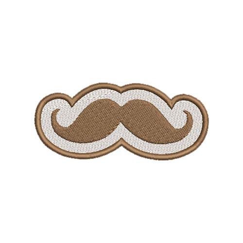 bajusz, mustache hímzett felvasalható felvarró patch folt hímzés foltshop