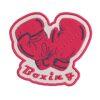 box, boxing, boksz, boxkesztyű, bokszkesztyű, felvasalható hímzett folt, felvarró, patch, foltshop