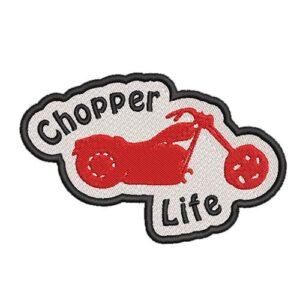 chopper life, csopper, motor, bike hímzett felvasalható felvarró patch folt hímzés foltshop
