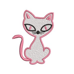 cica, cat, felvasalható hímzett folt, felvarró, patch, foltshop