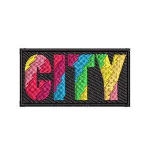 city, város, felvasalható hímzett folt, felvarró, patch, foltshop