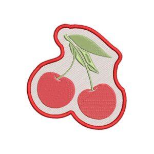 csersznye, cherry hímzett felvasalható felvarró patch folt hímzés foltshop