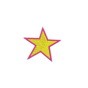 csillag, star, felvasalható hímzett folt, felvarró, patch, foltshop