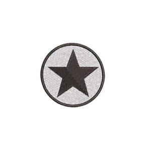 csillag, star, kör, round, felvasalható hímzett folt, felvarró, patch, foltshop