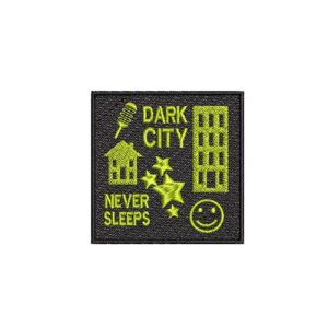 dark city, sötét város, sin city, felvasalható hímzett folt, felvarró, patch, foltshop