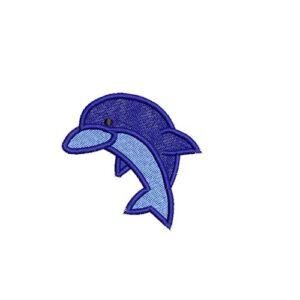delfin, dolphin, felvasalható hímzett folt, felvarró, patch, foltshop