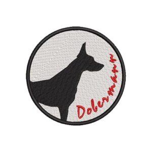 dobermann, kutya, dog, terrier hímzett felvasalható felvarró patch folt hímzés foltshop
