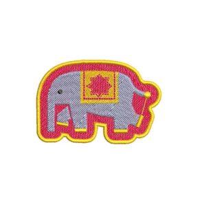 elefánt, elephant, felvasalható hímzett folt, felvarró, patch, foltshop