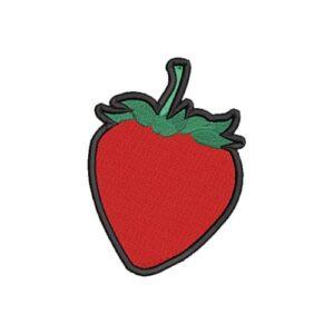 eper, strawberry hímzett felvasalható felvarró patch folt hímzés foltshop