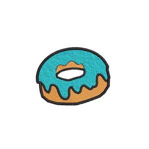 fánk, donut, felvasalható hímzett folt, felvarró, patch, foltshop