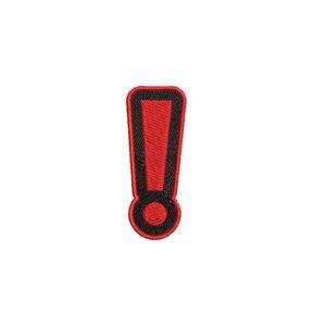 felkiáltójel, excalmation mark, felvasalható hímzett folt, felvarró, patch, foltshop