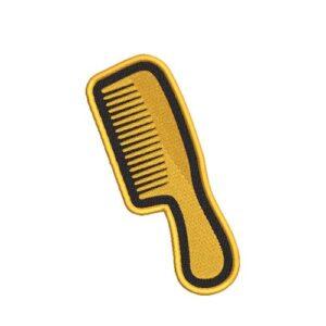 fésű, comb hímzett felvasalható felvarró patch folt hímzés foltshop