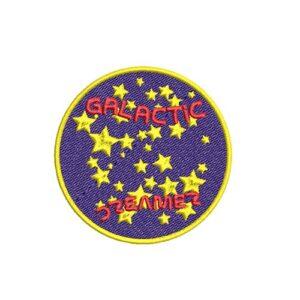 galactic dreamer, álmodó, felvasalható hímzett folt, felvarró, patch, foltshop
