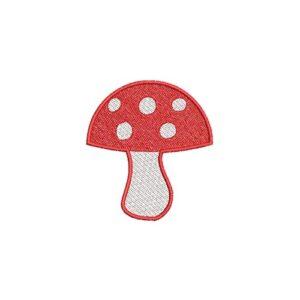 gomba, mushroom, felvasalható hímzett folt, felvarró, patch, foltshop