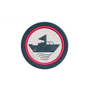 hajós, ship, tenger, oceán, sea, felvasalható hímzett folt, felvarró, patch, foltshop