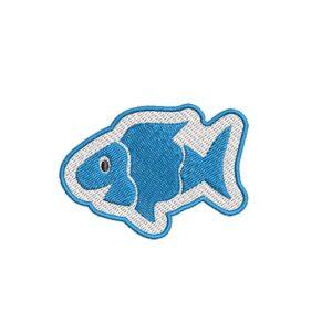 halacska, fish, felvasalható hímzett folt, felvarró, patch, foltshop