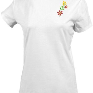 virág, flower, folk, népi egyedi hímzett póló, pulóver, sapka, gépi hímzés