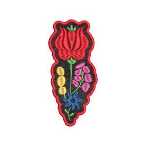 kalocsai, virág, folk, flower hímzett felvasalható felvarró patch folt hímzés foltshop