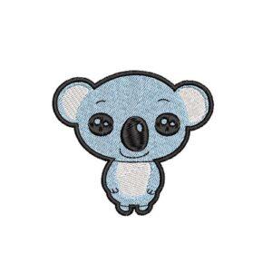 koala maci, felvasalható hímzett folt, felvarró, patch, foltshop
