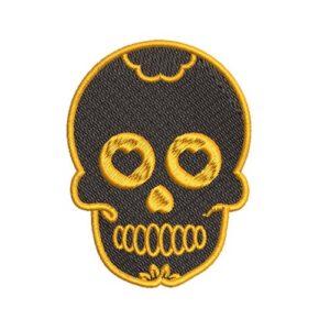 koponya, skull, felvasalható hímzett folt, felvarró, patch, foltshop