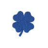 négylevelű lóhere, szerencse, lucky, four leaf clover, felvasalható hímzett folt, felvarró, patch, foltshop