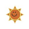 nap, napocska, sun sunny, felvasalható hímzett folt, felvarró, patch, foltshop