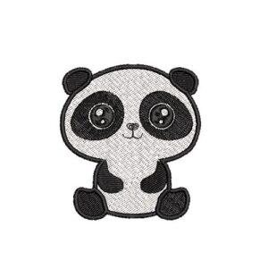 panda, felvasalható hímzett folt, felvarró, patch, foltshop