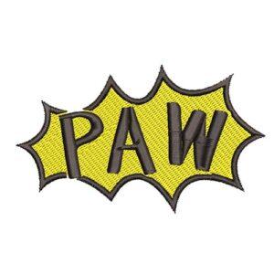 paw képregényes, cartoon, felvasalható hímzett folt, felvarró, patch, foltshop