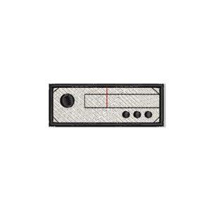 radio, felvasalható hímzett folt, felvarró, patch, foltshop