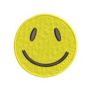 szmájli, smiley, felvasalható hímzett folt, felvarró, patch, foltshop
