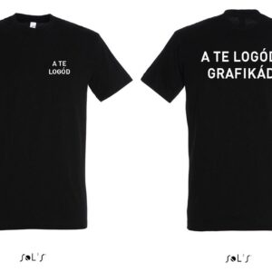 céges logózott hímzett emblémázott nagy méretű póló, gépi hímzés nagyméret