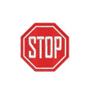 stop felvasalható hímzett folt, felvarró, patch, foltshop