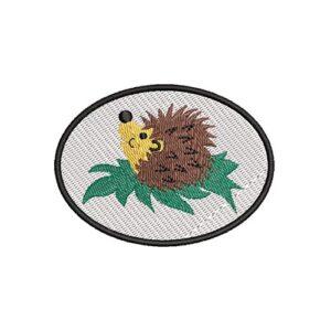 süni, hedgehog, felvasalható hímzett folt, felvarró, patch, foltshop