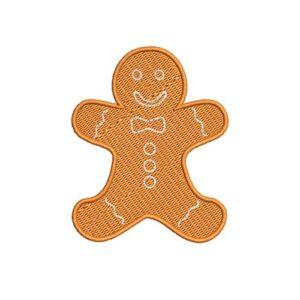 sütiember, cookie man, elvarrható, muffin man, felvasalható hímzett folt, felvarró, patch, foltshop