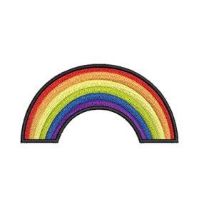 szivárvány felhő, rainbow felvarrható, felvasalható hímzett folt, felvarró, patch, foltshop
