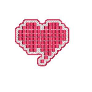 szív tetris, heart tetris, felvarrható, felvasalható hímzett folt, felvarró, patch, foltshop