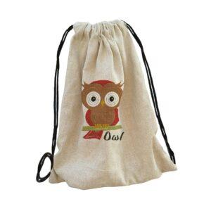 owl bagoly bag backpack, hátizsák hímzett gépi hímzés