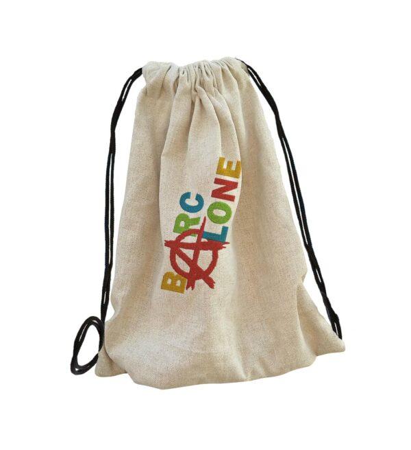 barcelon bag backpack, hátizsák hímzett gépi hímzés