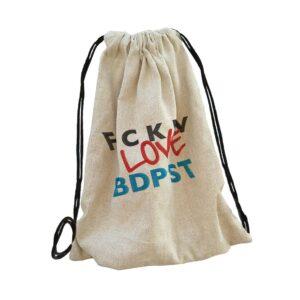 budapest bag backpack, hátizsák hímzett gépi hímzés