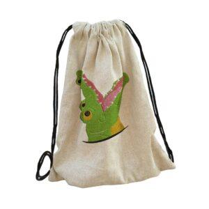 kroki, krokodil, croc bag backpack, hátizsák hímzett gépi hímzés