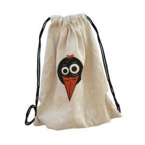 csőri tweety bag backpack, hátizsák hímzett gépi hímzés