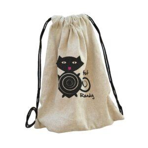 cicás cat táska bag backpack, hátizsák hímzett gépi hímzés