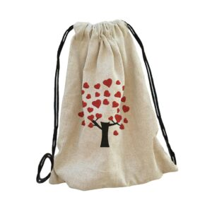 szív heart táska bag backpack, hátizsák hímzett gépi hímzés