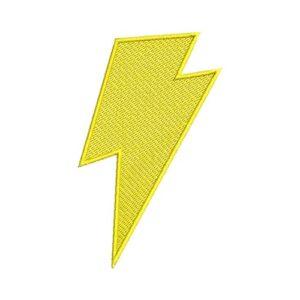 villám, thunder, felvarrható, felvasalható hímzett folt, felvarró, patch, foltshop