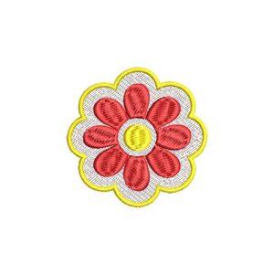 virág, flower, felvarrható, felvasalható hímzett folt, felvarró, patch, foltshop
