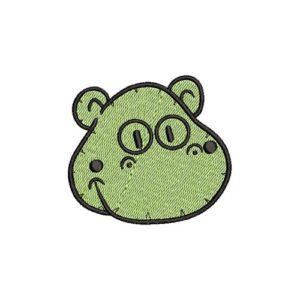 víziló, hippo felvarrható, felvasalható hímzett folt, felvarró, patch, foltshop