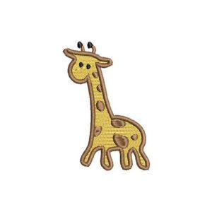 zsiráf felvarrható, felvasalható hímzett folt, felvarró, patch, foltshop